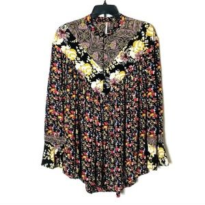 Free People XS Floral Tunic Top
